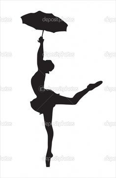 236x362 Silhouette ballerina with umbrella Silhouette Of The Ballerina