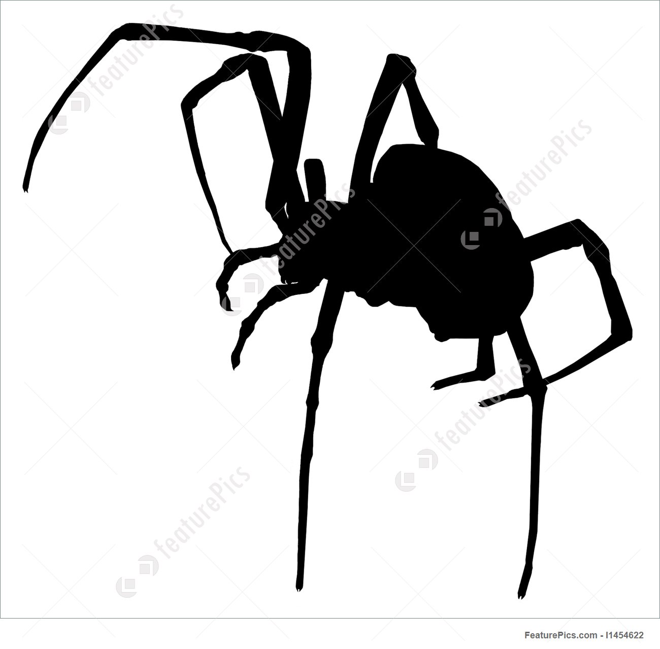 1300x1279 Spooky Halloween Spider Silhouette Illustration