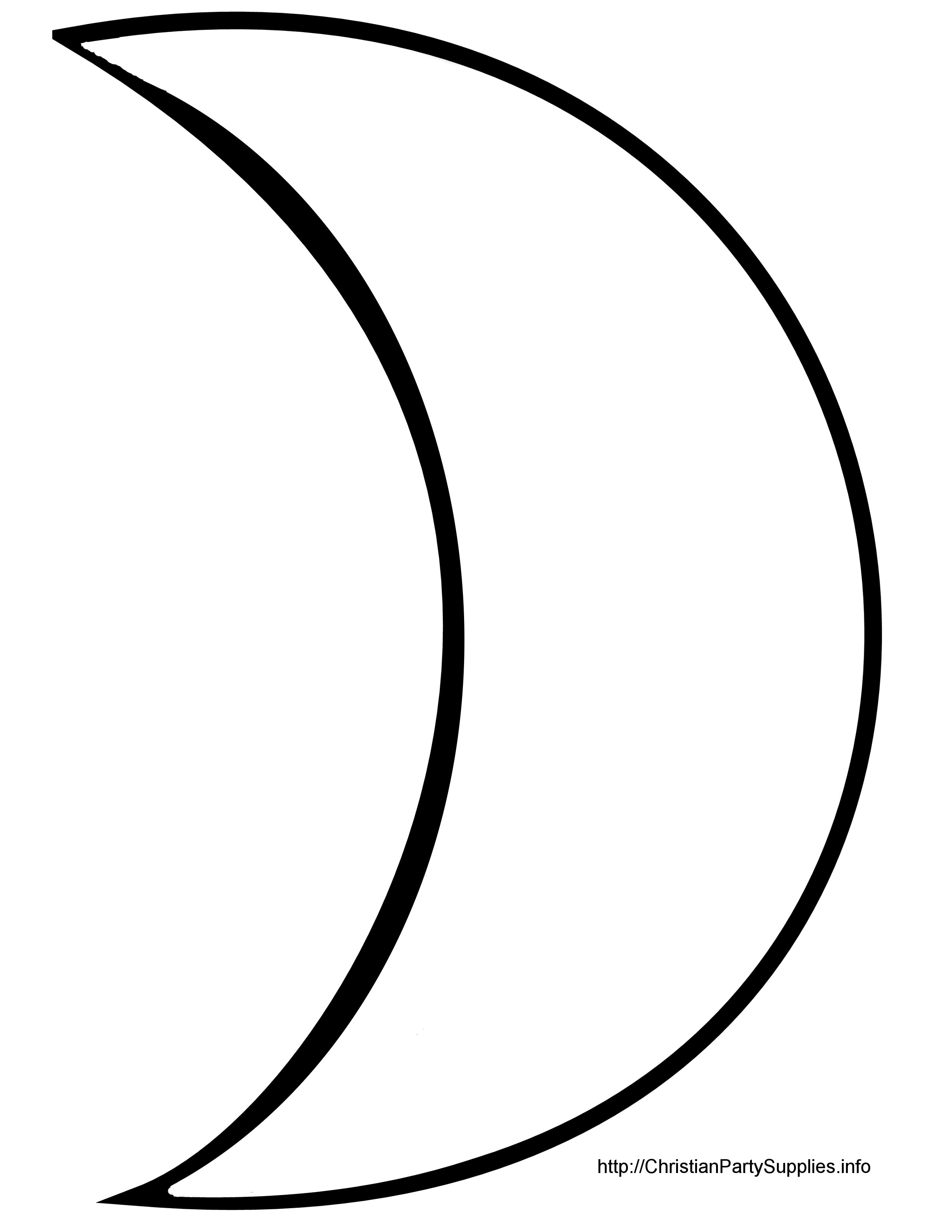 Crescent Moon Silhouette at GetDrawings | Free download