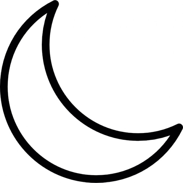 crescent moon silhouette at getdrawings com free for personal use rh getdrawings com crescent moon clipart free crescent moon clipart black and white