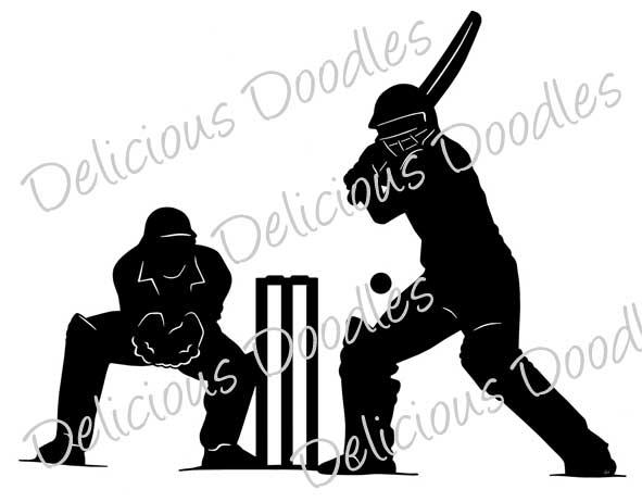 591x462 Cricket Clipart Silhouette