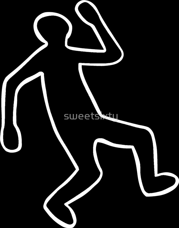 630x800 Crime Scene Body Outline Posters By Sweetsixty Redbubble