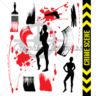 325x325 Crime Scene Gl Stock Images