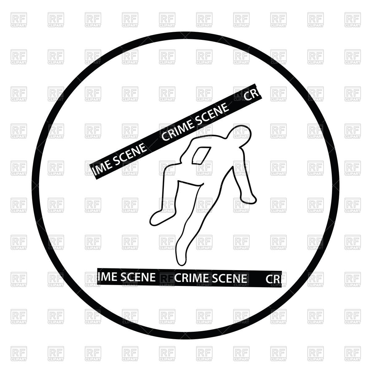 1200x1200 Crime Scene Icon, Dead Body Outline Royalty Free Vector Clip Art