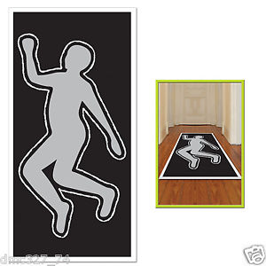 300x300 Halloween Party Decoration Photo Prop Chalk Body Outline