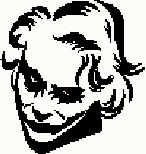 500x525 Dark Knight Joker Silhouette Chartgraph By Knitcreations86