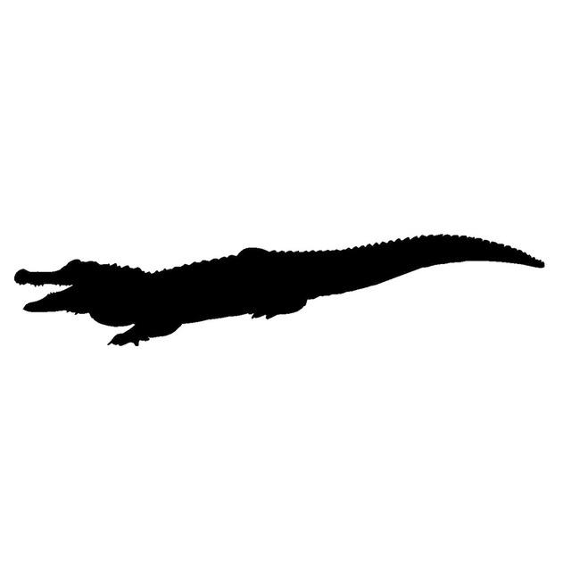 640x640 Cartoon Croc Crocodile Reptile Silhouette Jdm Car Sticker Truck