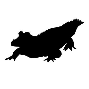 340x340 Free Silhouette Vector Scales, Crocodile, Up