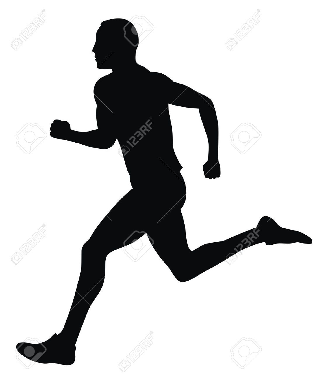 1123x1300 4506982 Abstract Vector Illustration Of Marathon Runner Stock