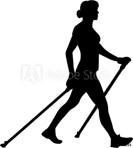448x500 Nordic Walking Silhouette