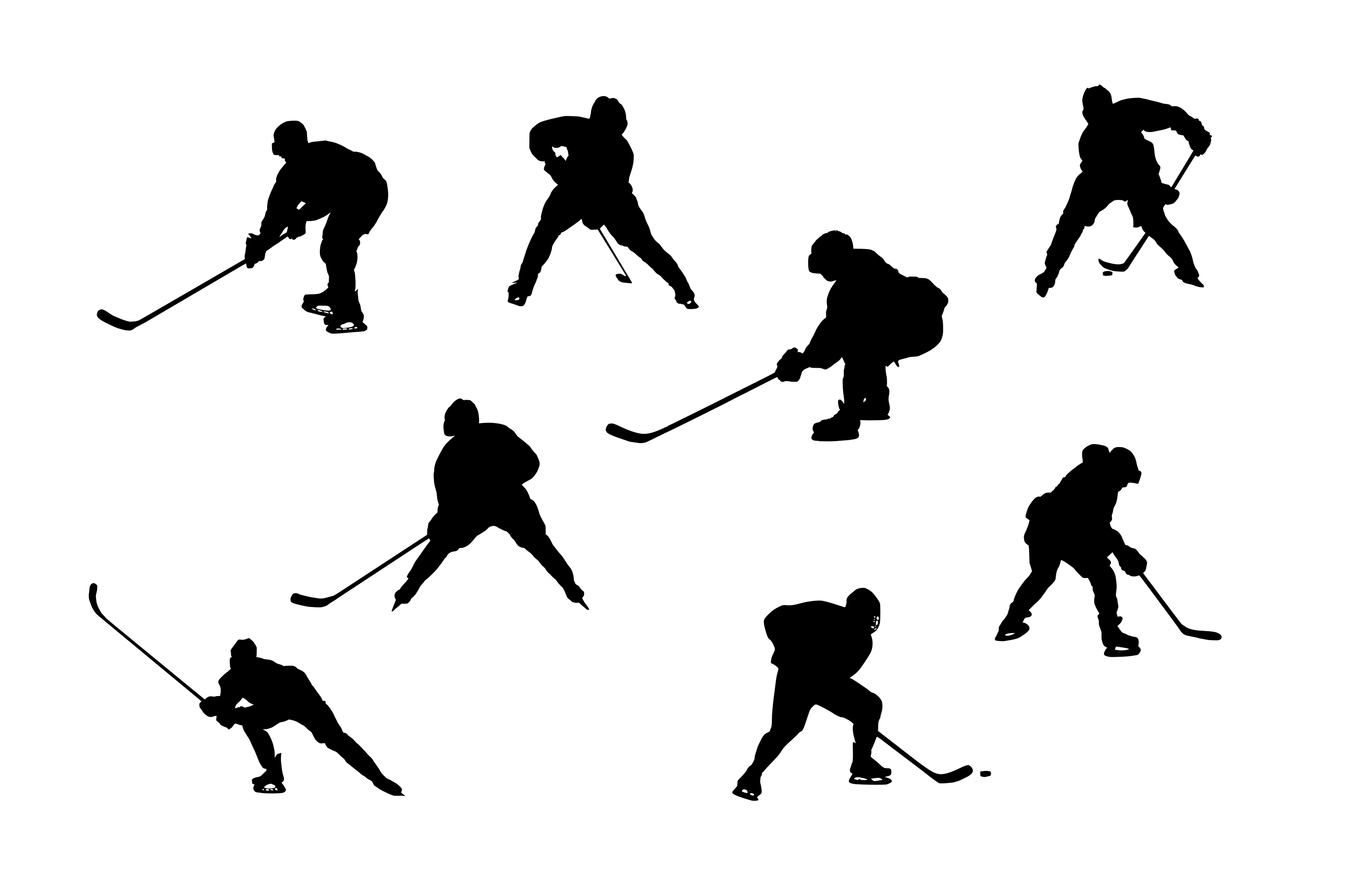 2731x1820 8 Hockey Player Silhouette (Png Transparent)