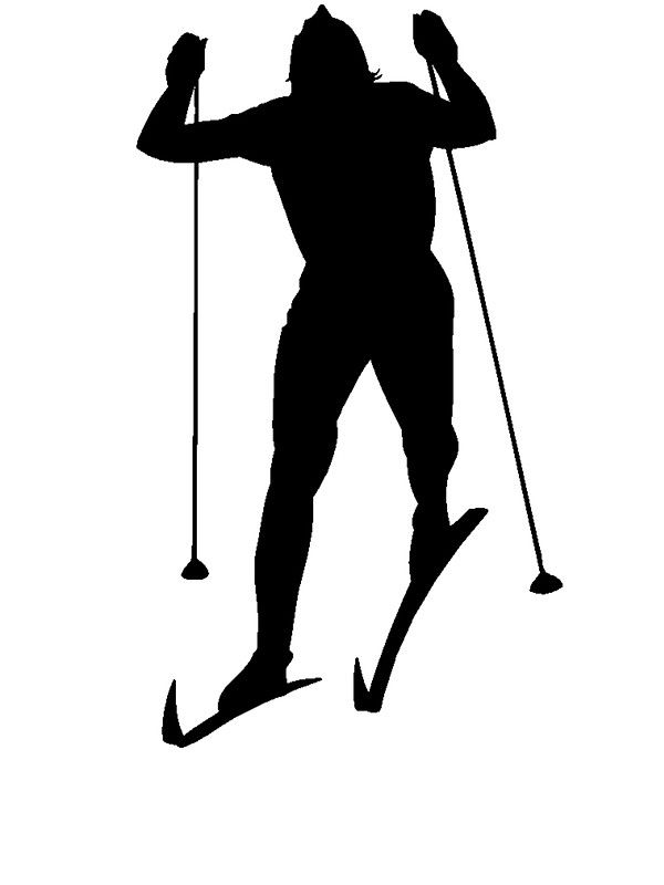 600x800 Cross Country Skier Silhouette Woman