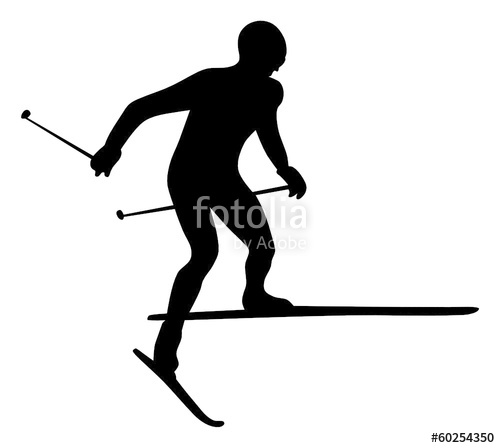 500x448 Silhouettes Of Winter Sports Stock Image And Royalty Free Vector