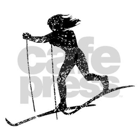 460x460 Vintage Cross Country Skier Stein By Sportssilhouettes