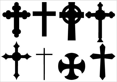 501x352 Cross Silhouette Clipart