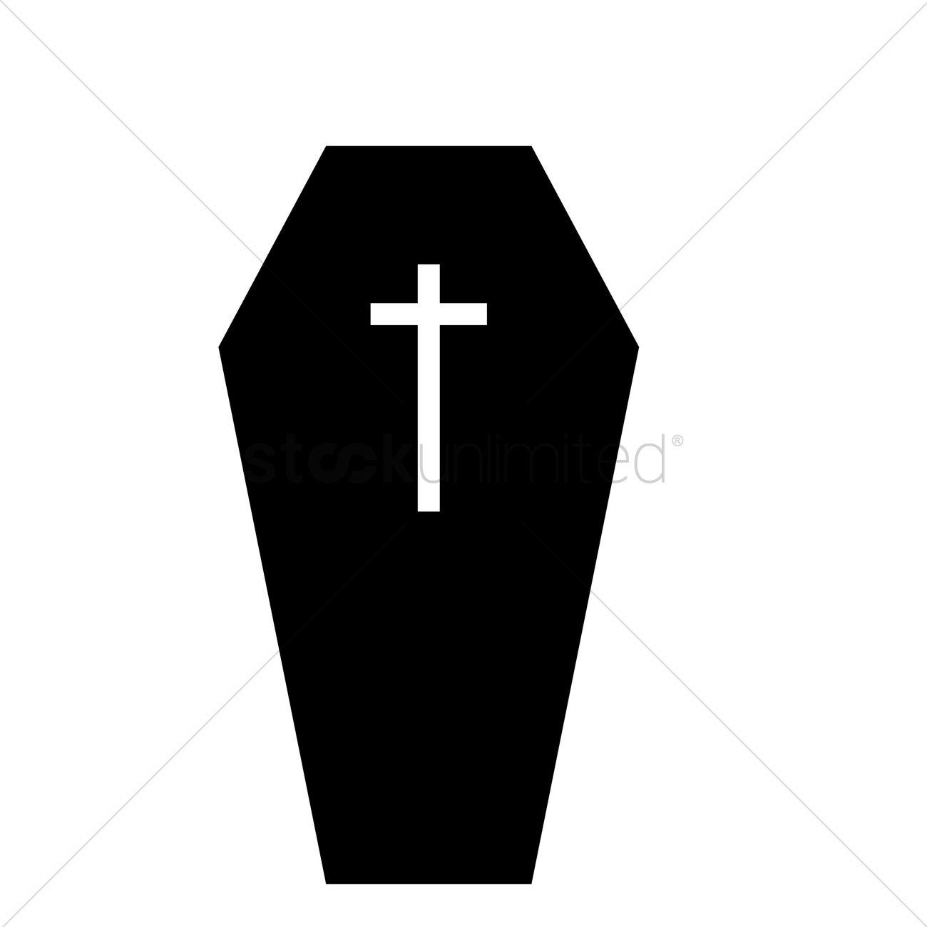 1300x1300 Coffin Silhouette Vector Image