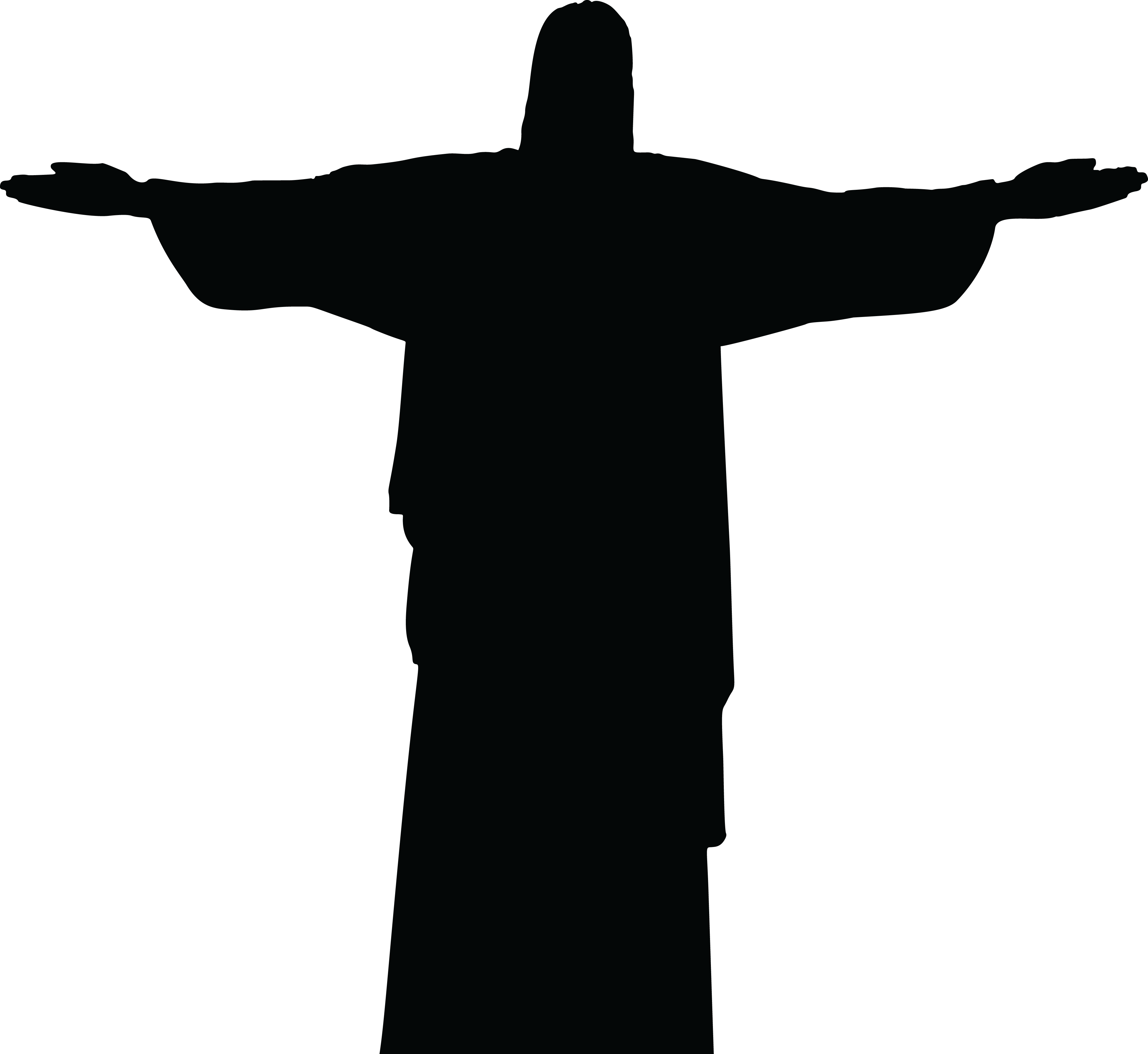 4000x3671 Free Clipart Of A Silhouetted Christ The Redeemer Statue