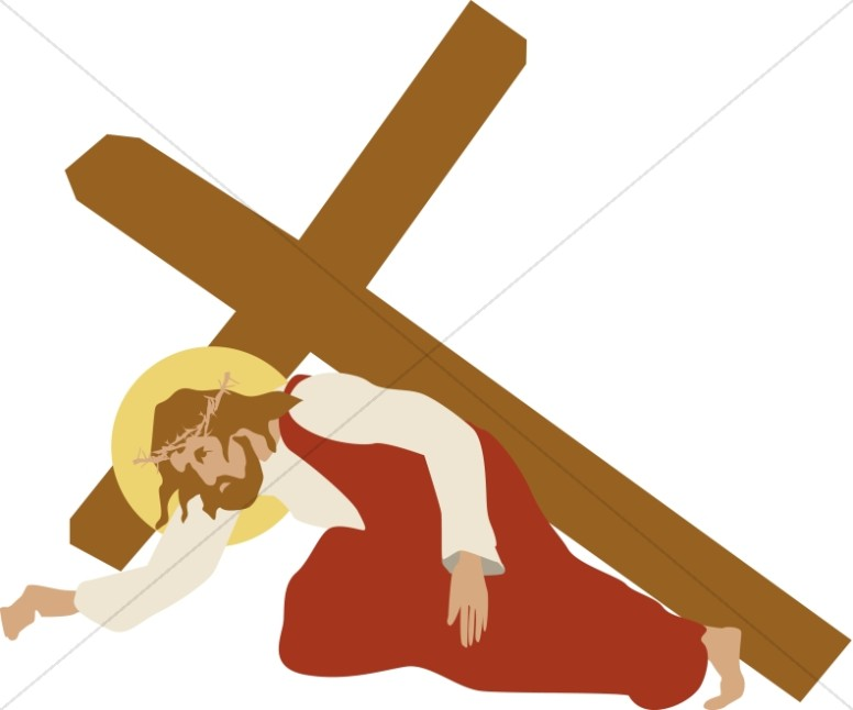 776x646 Jesus Stumbles Under The Cross Stations Of The Cross Clipart