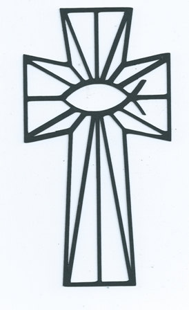 274x448 Stained Glass Cross With Fish Center Silhouette By Hilemanhouse