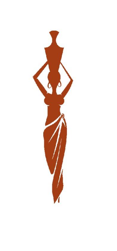392x836 Long African Woman Silhouette Cross Stitch Pattern Vandihand