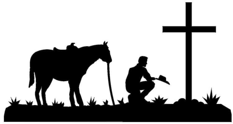 750x401 Praying Cowboy Clip Art