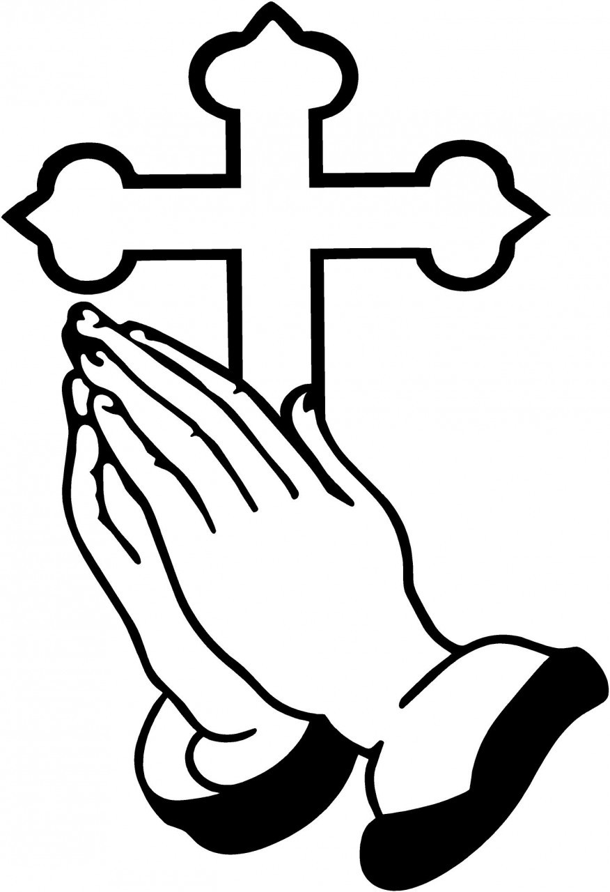 876x1280 Praying Hands Silhouette Clipart