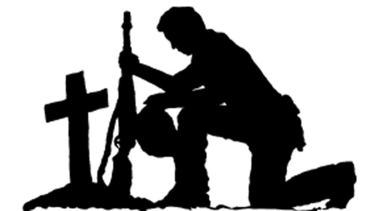 1200x675 Soldier Kneeling Silhouette Soldier Cross Silhouette