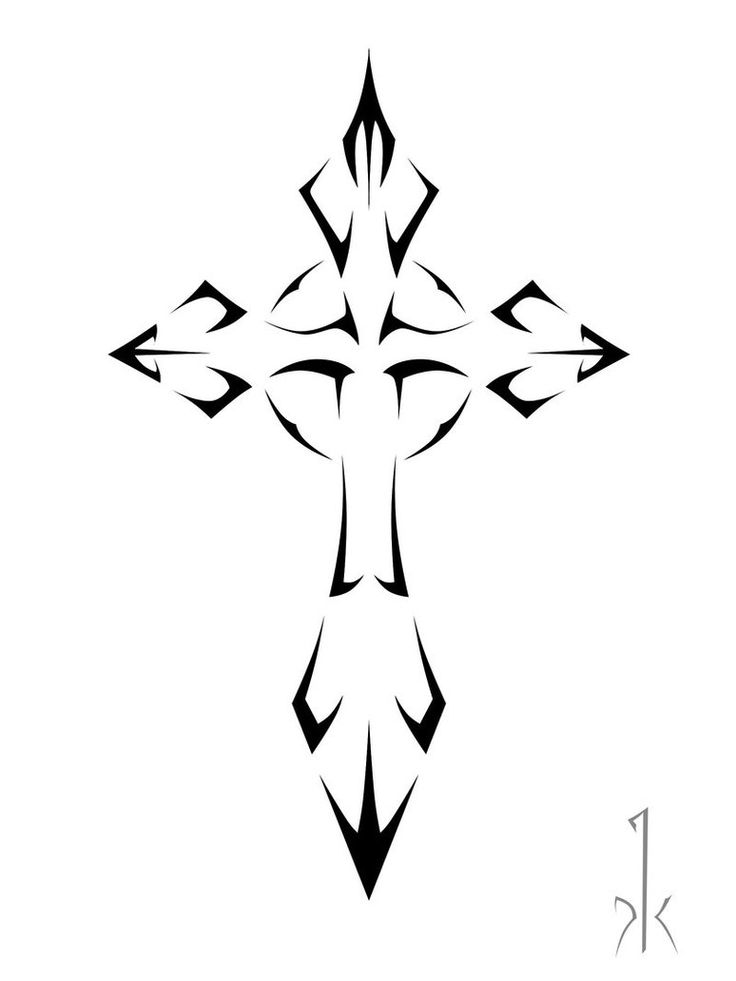 736x981 Collection Of Grunge Cross Tattoo Sample