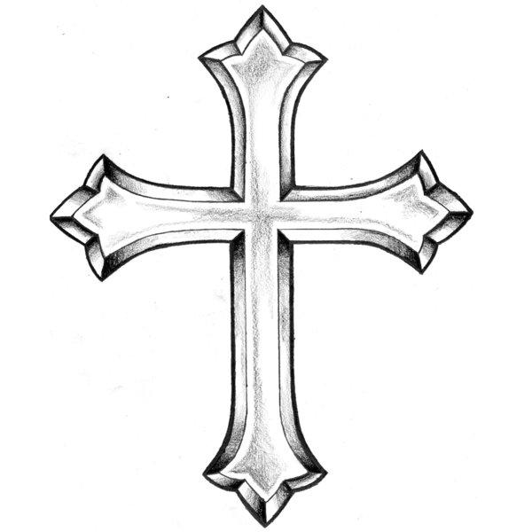 600x600 Cross Tattoo Clipart