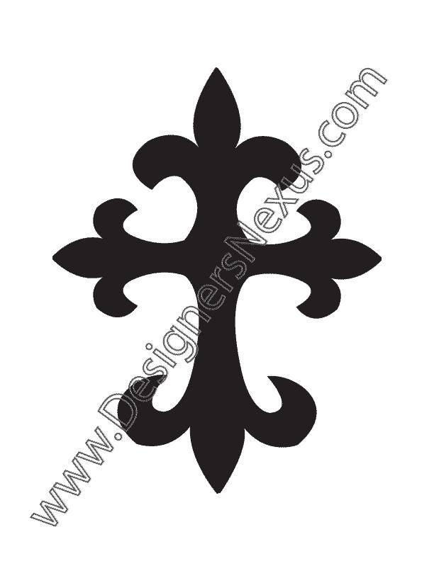 612x792 Free Vector Botonee Cross Graphic V6 Tattoo Art