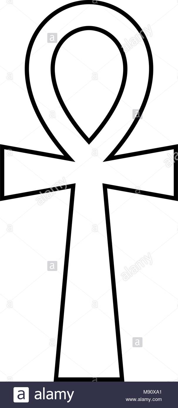 606x1390 African Ankh Vector Drawing