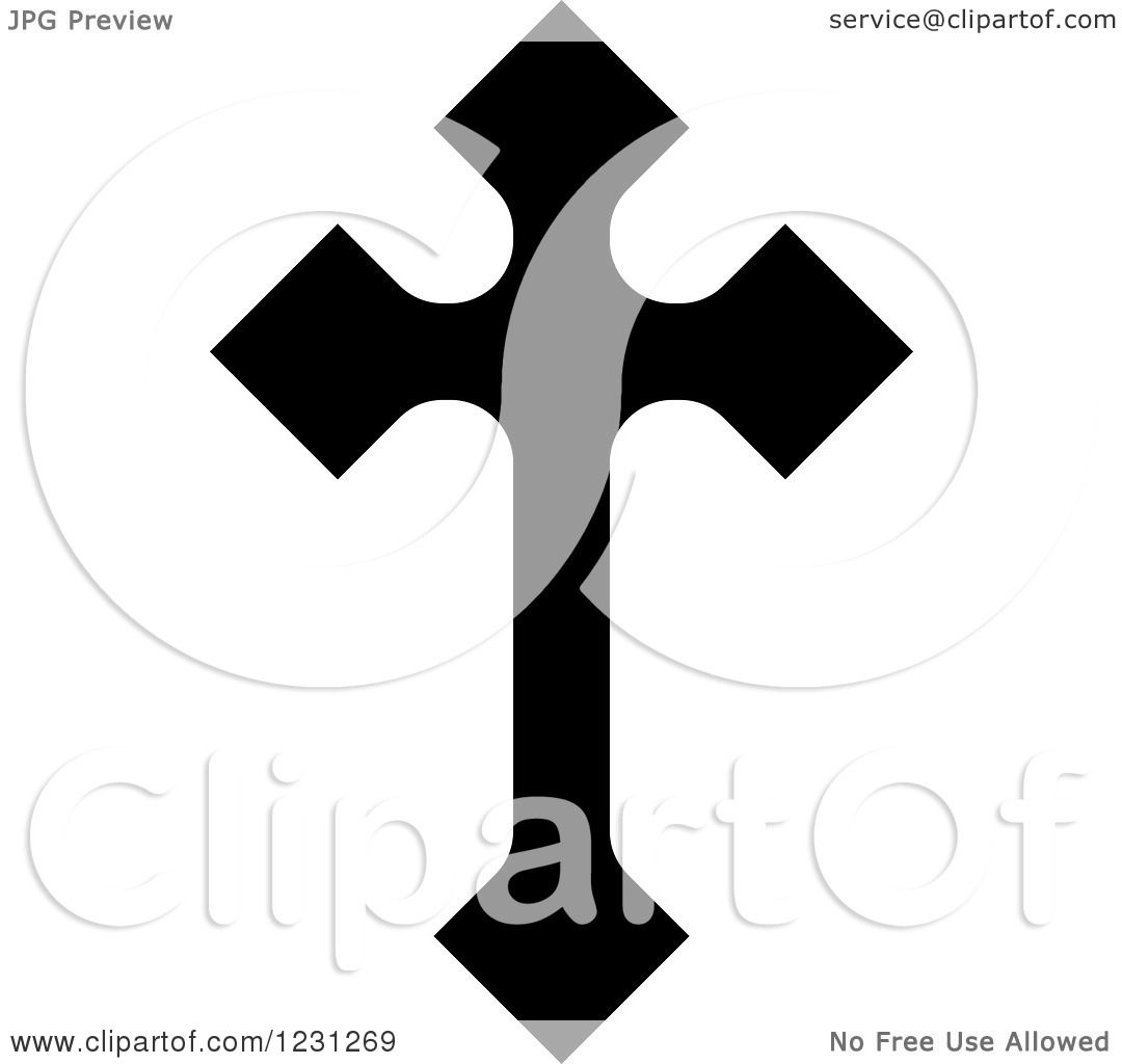 1080x1024 Clipart Of A Black And White Christian Cross 28