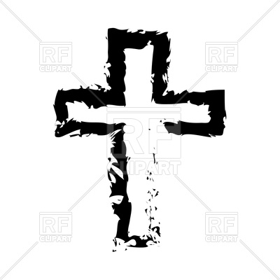 400x400 Black Cross Icon On White Background Royalty Free Vector Clip Art