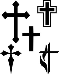 236x302 Ornate Cross Shape Silhouette Vector Christmas Vector Graphics