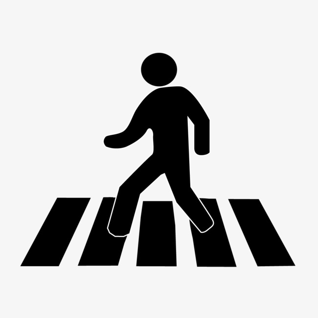 650x651 Silhouette Pedestrian Crossing Road, Pedestrian, Cross