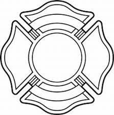 223x226 Black And White Firefighter Maltese Cross Fire Safty