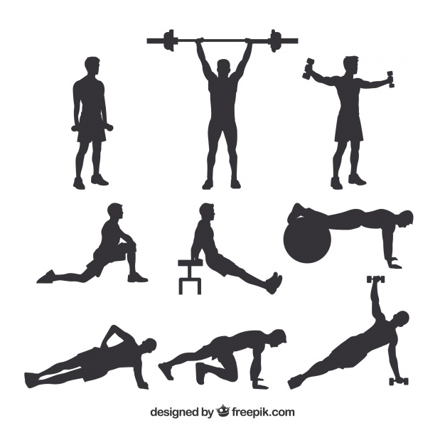 626x626 Set Of Male Crossfit Silhouettes Vector Free Download