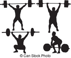 238x194 Weightlifter Silhouette Vector Clip Art Illustrations. 363