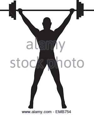 300x367 Black Silhouette Weights For Crossfit Vector Illustration Stock