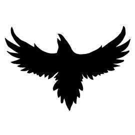 270x270 Crow Silhouette Stencil Free Stencil Gallery