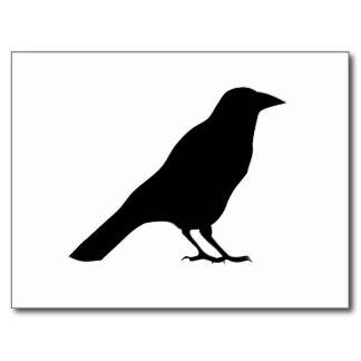 324x324 Crow Silhouette Template Crow Silhouette Postcards Blackbird