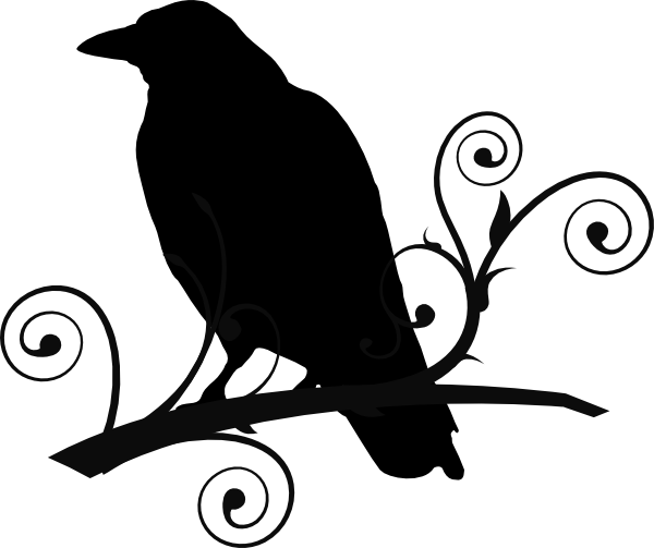600x503 Crow Clipart Branch Silhouette
