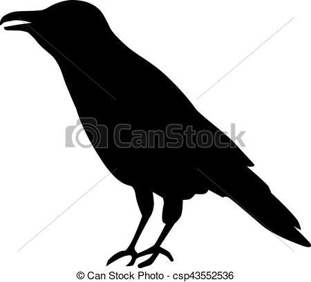 450x409 Crow Silhouette Vectors