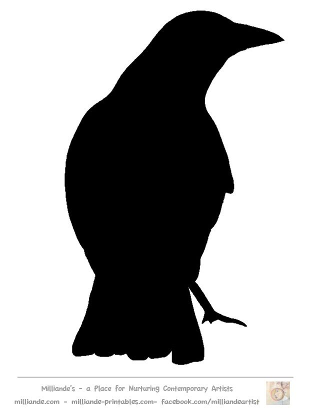 Crow Silhouette at GetDrawings.com | Free for personal use Crow ...
