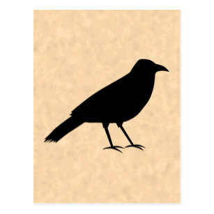 307x307 Black Crow Silhouette Cards