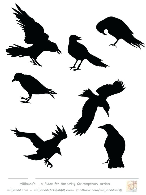 picture about Bird Silhouette Printable called Crow Silhouette Behavior at  No cost for