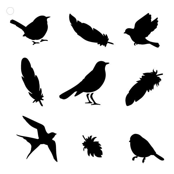 600x600 Birds Of A Feather 12 X 12 Pattern Stencil By Studior12