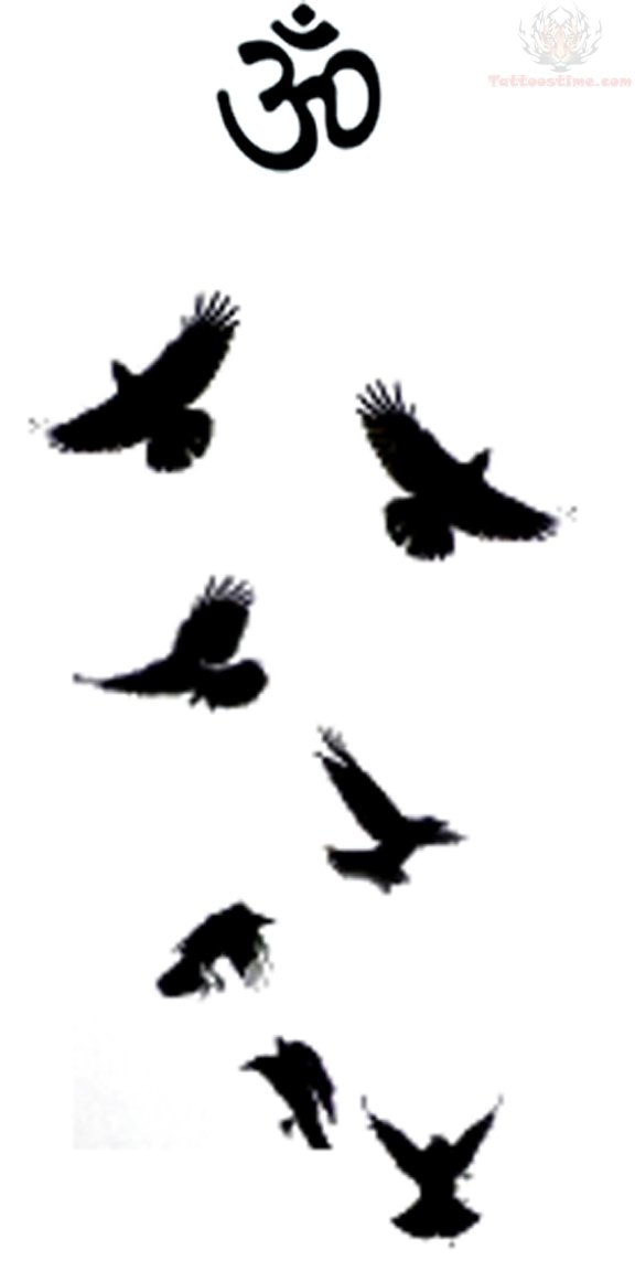 Crow Silhouette Tattoo At Getdrawingscom Free For