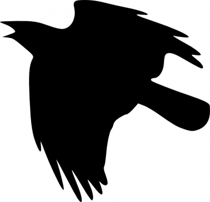 425x410 Crow Flying Up Clip Art Vector, Free Vector Images