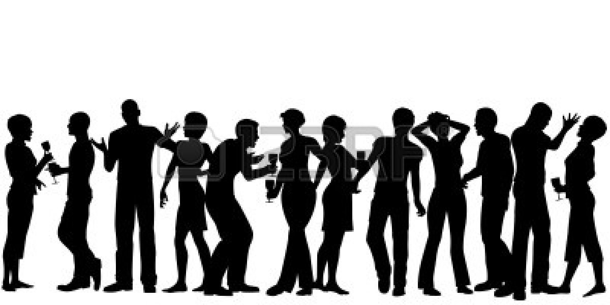 1200x600 Party Clipart Silhouette